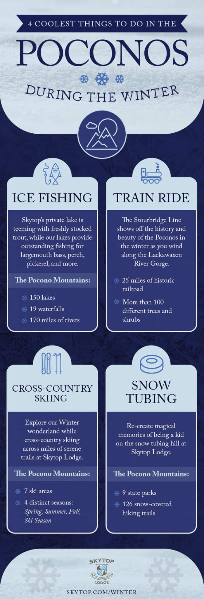 4 Coolest Things to Do in the Poconos During the Winter [Infographic]